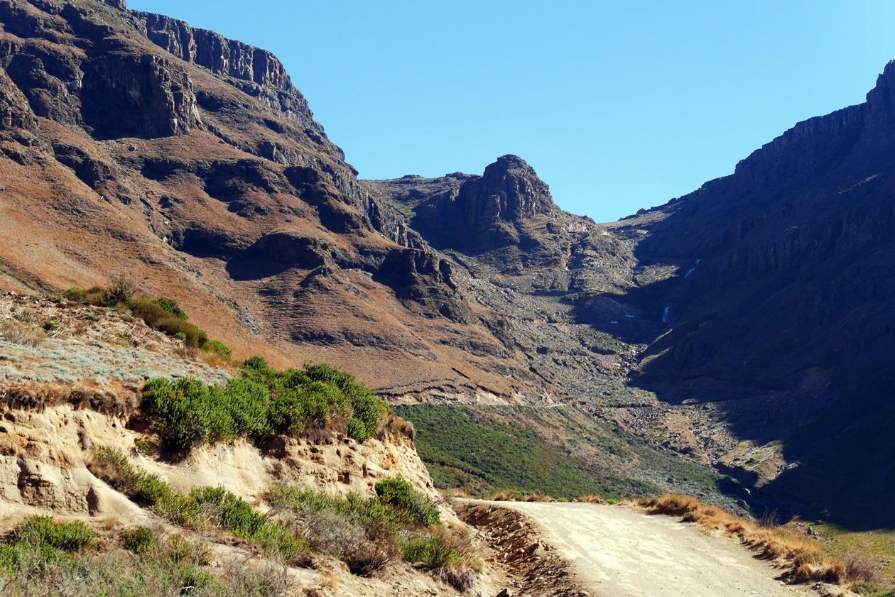 Sani Pass auf südafrikanischer Seite
