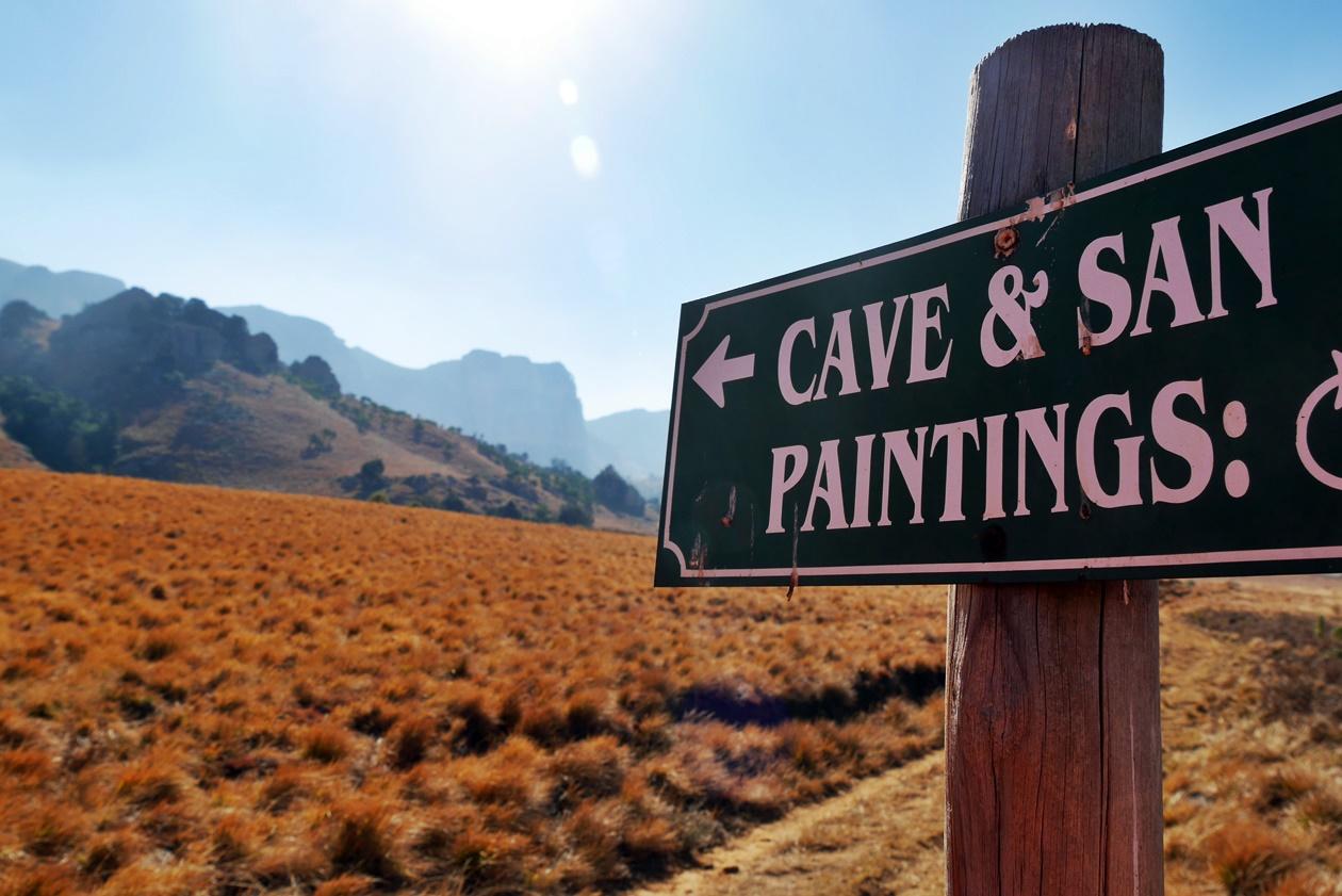 Hinweisschild zu einer Wanderungen in den Drakensbergen