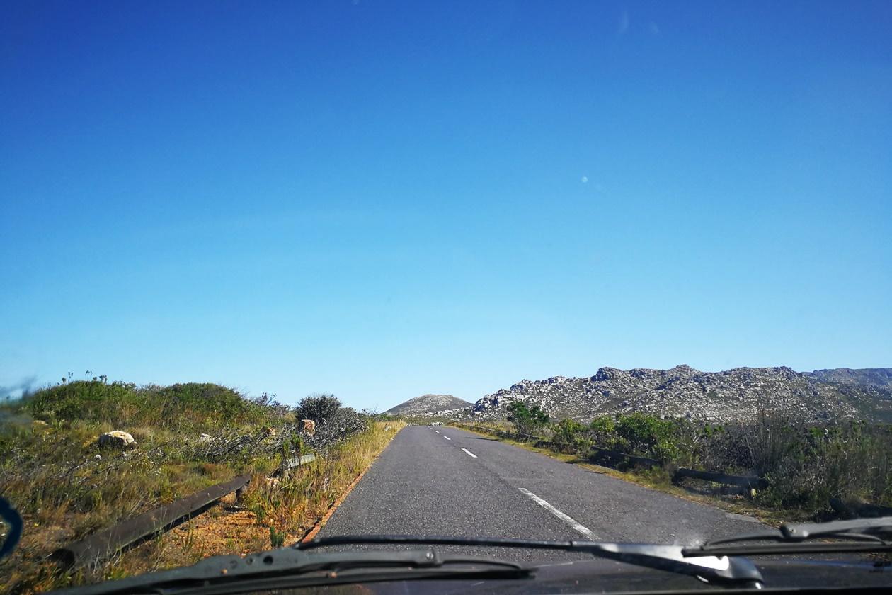Zufahrtsstraße zum Silvermine Nature Reserve