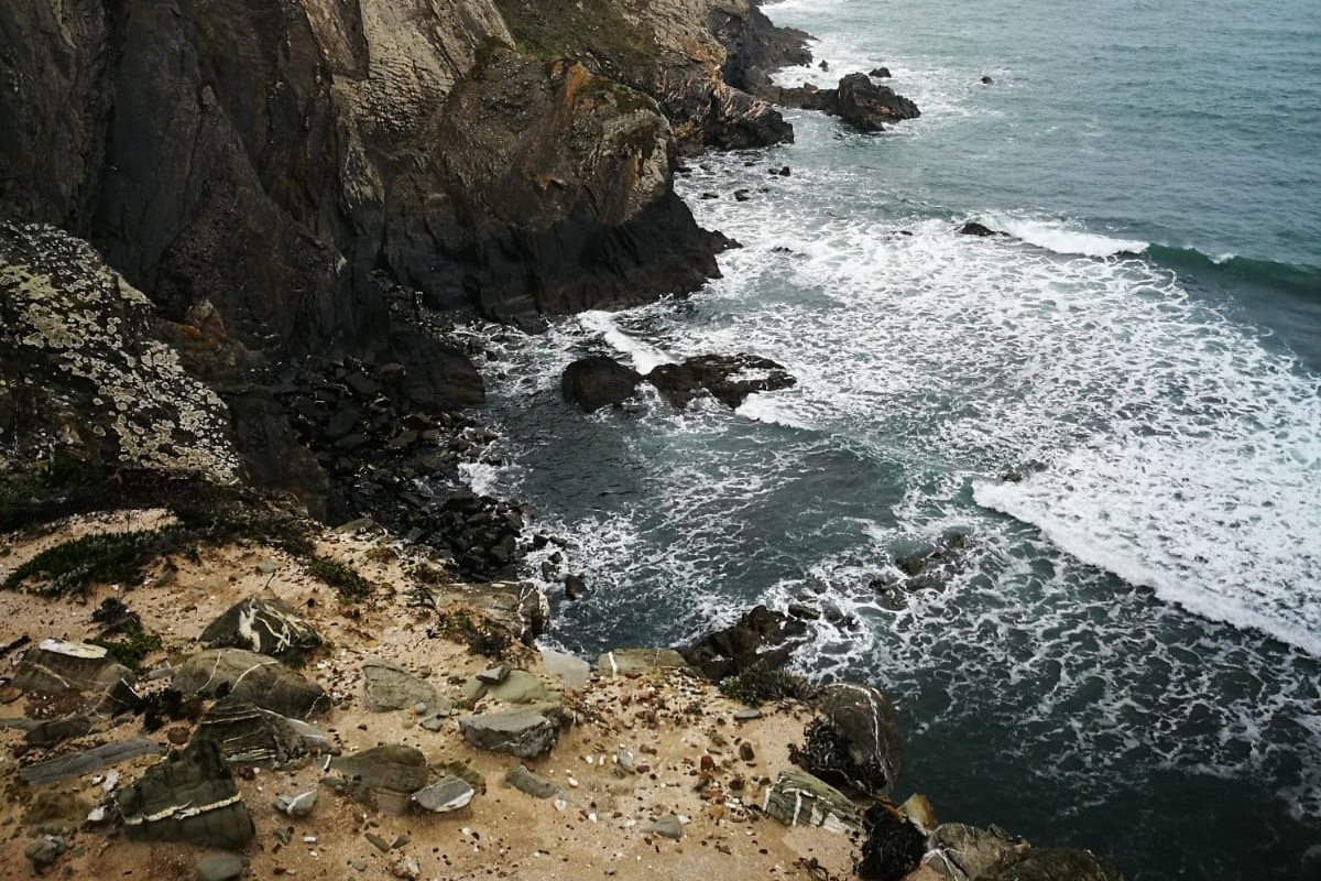 Aufgewühlter Atlantik auf der dritten Etappe auf dem Fisherman´s Trail