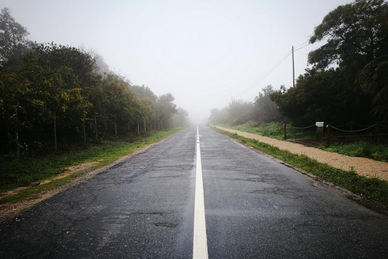 Straße ins Nirgendwo auf der dritten Etappe auf dem Fisherman´s Trail
