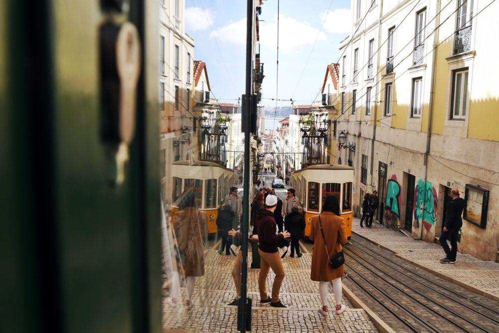 Elevedaor in Lissabon