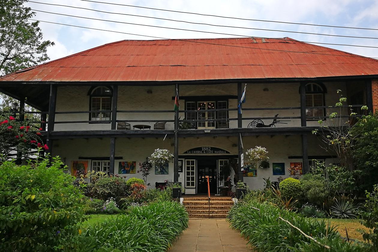 Eines der ältesten Gebäude in Blantyre, das Mandala House