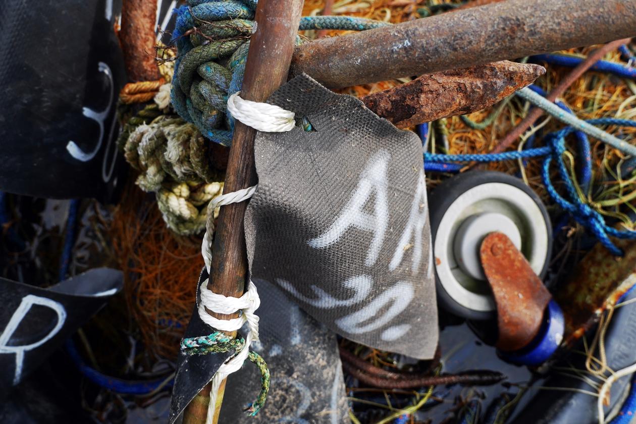 Fischereizubehör entdeckt in Arnis auf unserer Tour durch Schleswig und Umgebung