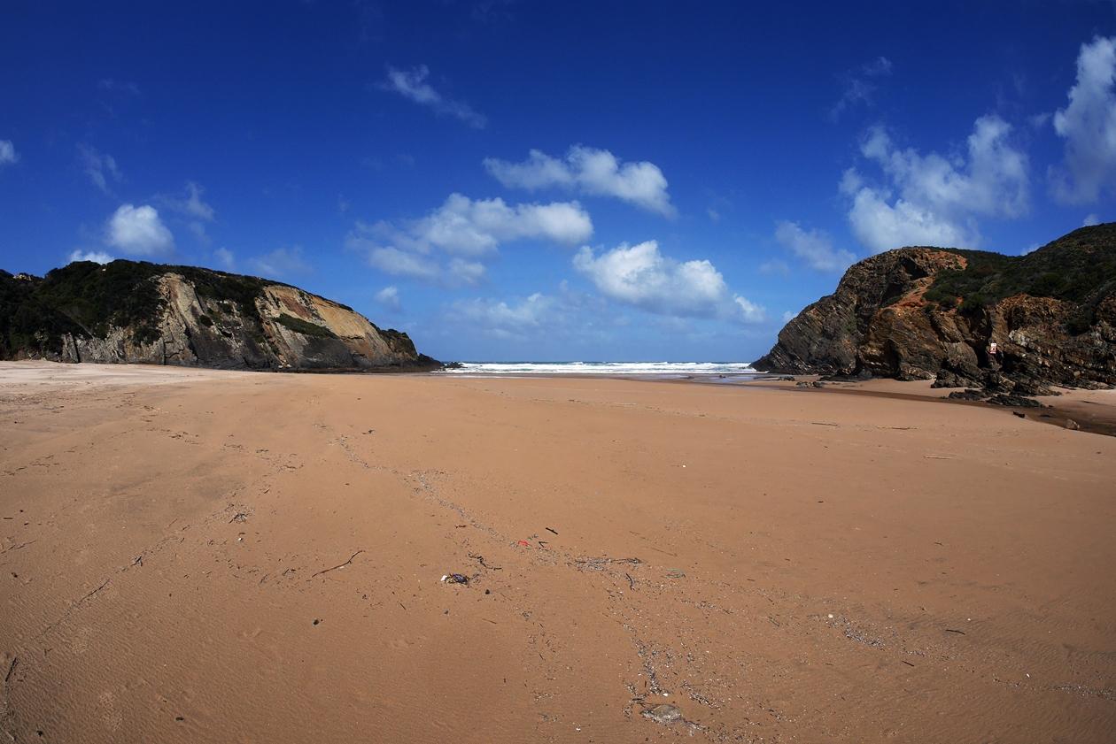 Weiter Sandstrand am Tag 4 auf dem Fisherman´s Trail in Portugal