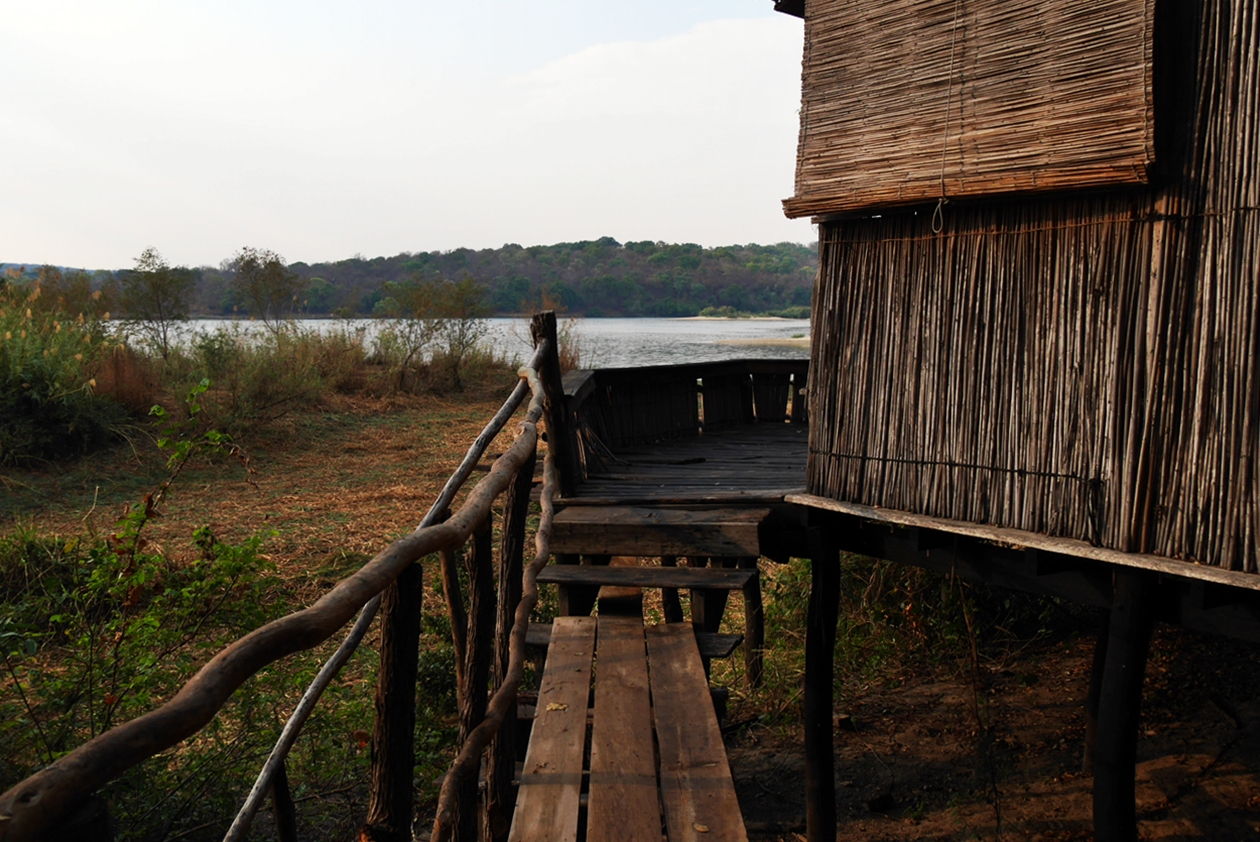 Unterkunft auf Bovu Island am Sambesi
