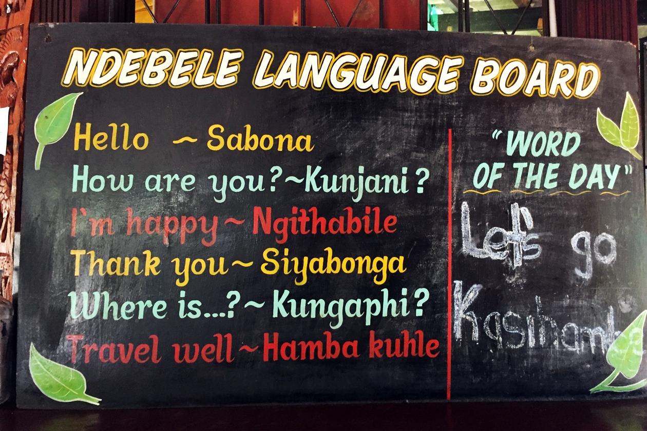 Lokale Sprache in der Sambesi Region
