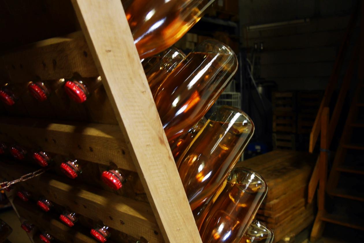 Blick in den Weinkeller des Weingut Berthold in Neckarsulm