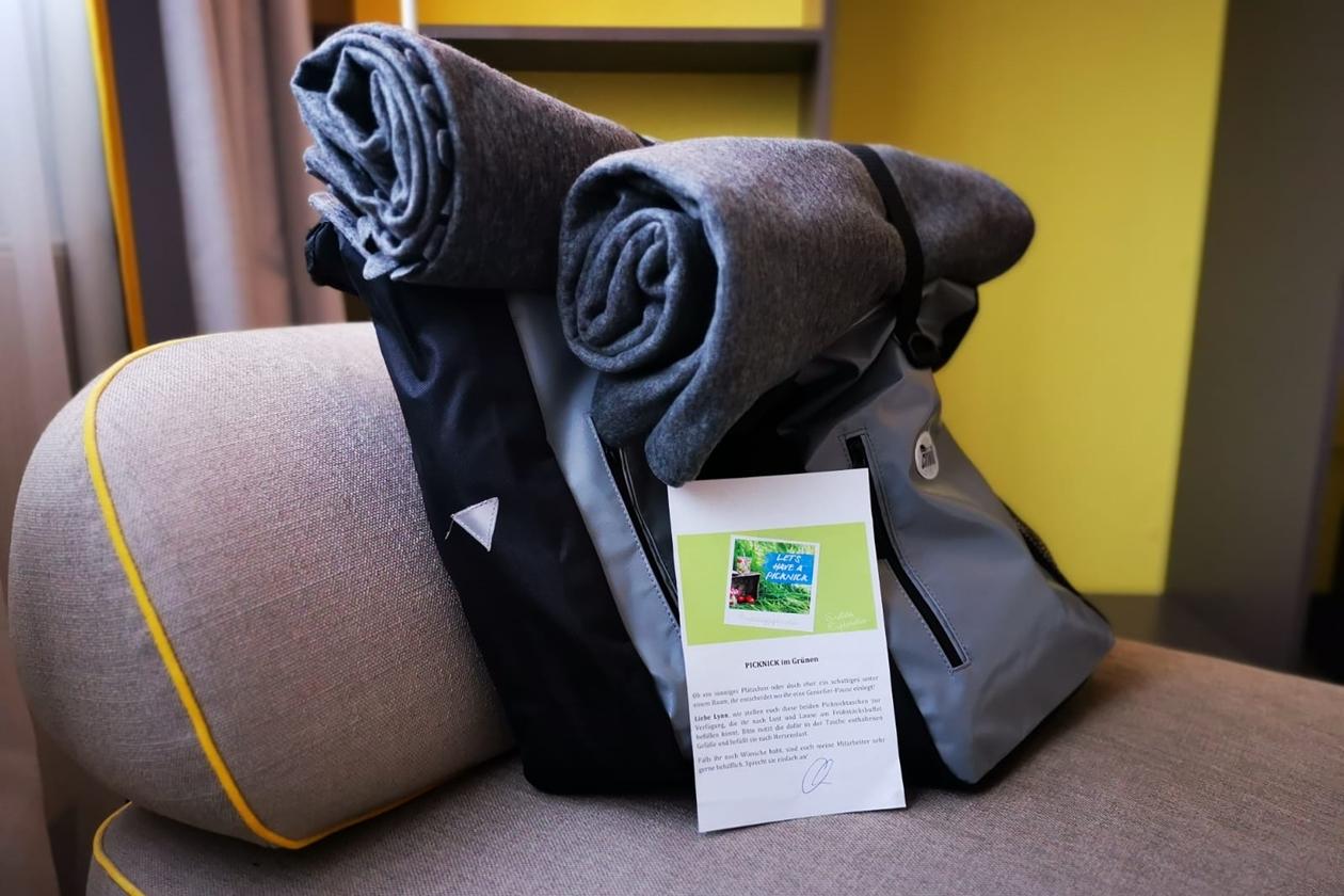 Detailaufnahme der Picknicktaschen des Vienna House Neckarsulm