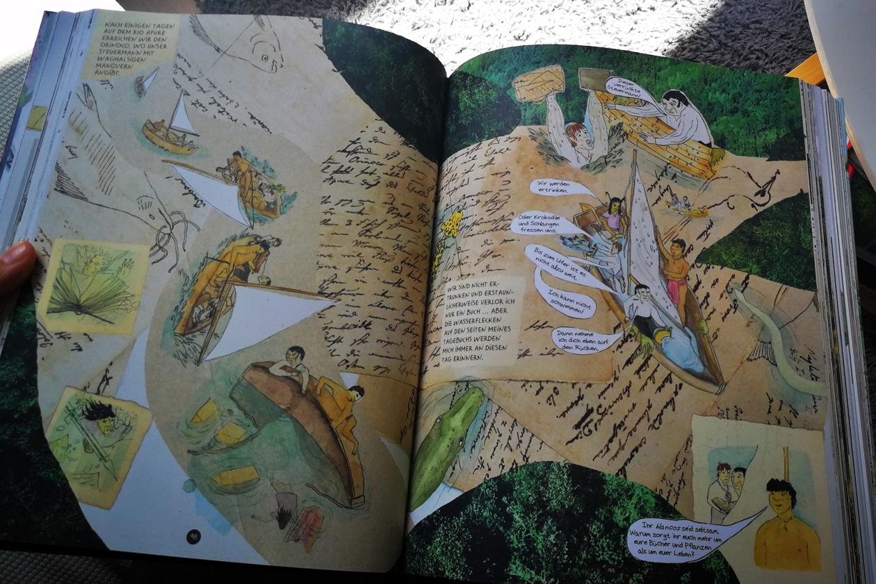 Blick in das Buch die Abenteuer des Alexander von Humboldt