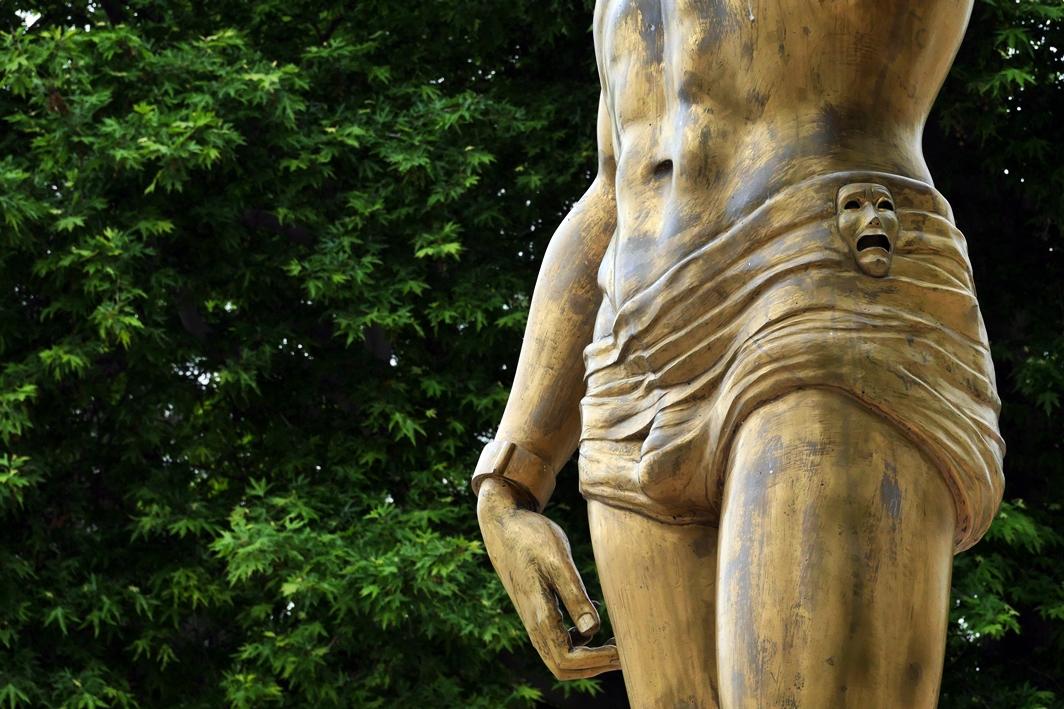 Statue in der Innenstadt von Skopje