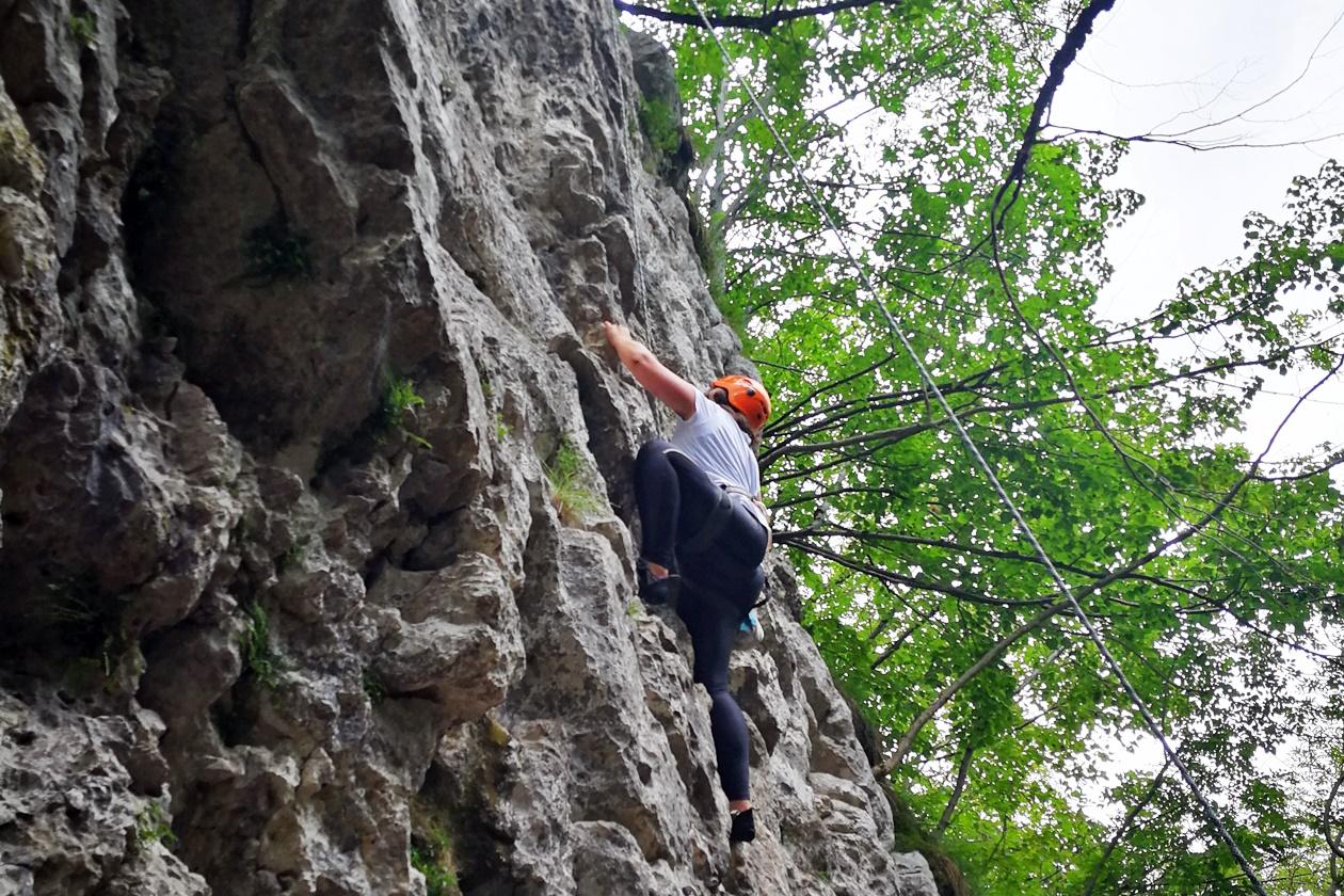 Felsklettern in der Umgebung von Bovec