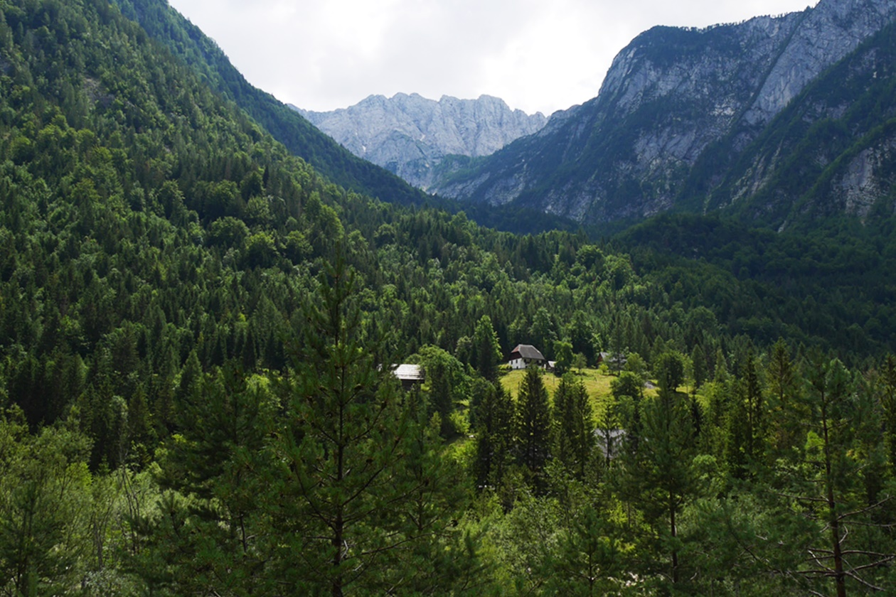 Bergpanorama im Soca Tal