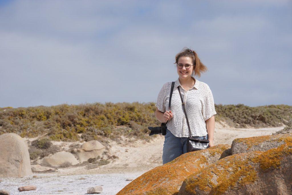Lynn im Cape Columbine Nature Reserve an Südafrikas Westküste