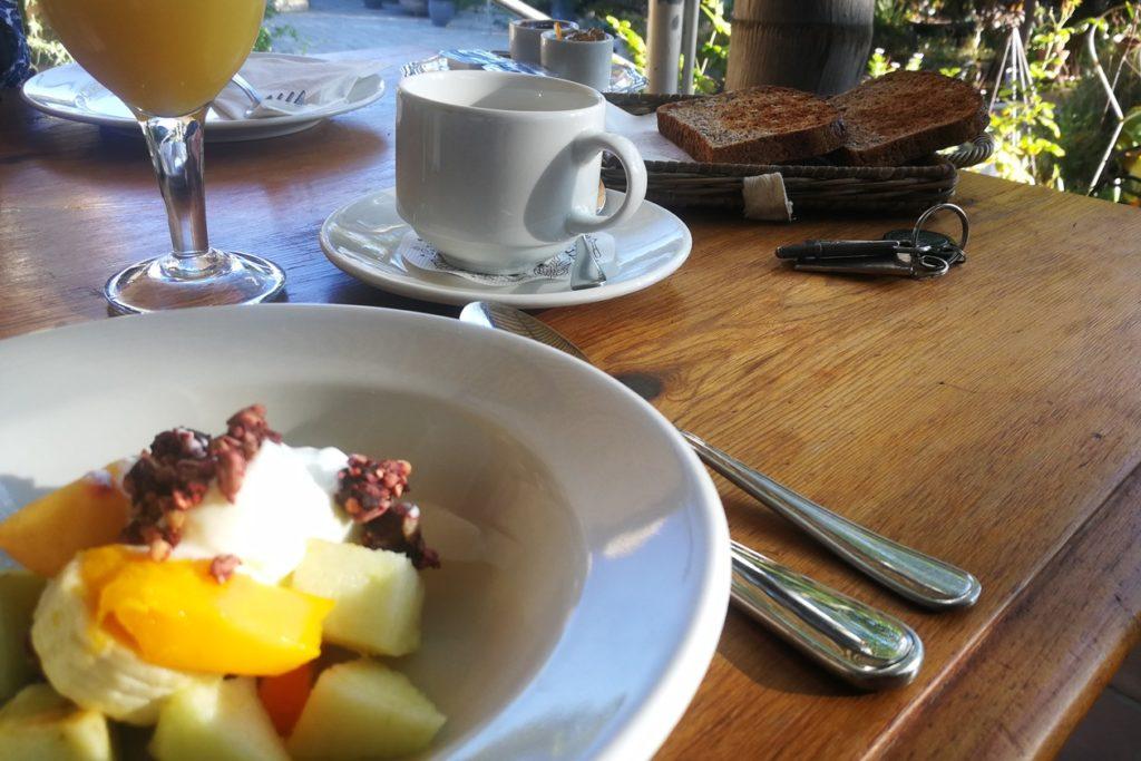 Frühstück im Yellow Aloe Guesthouse in Clanwilliam