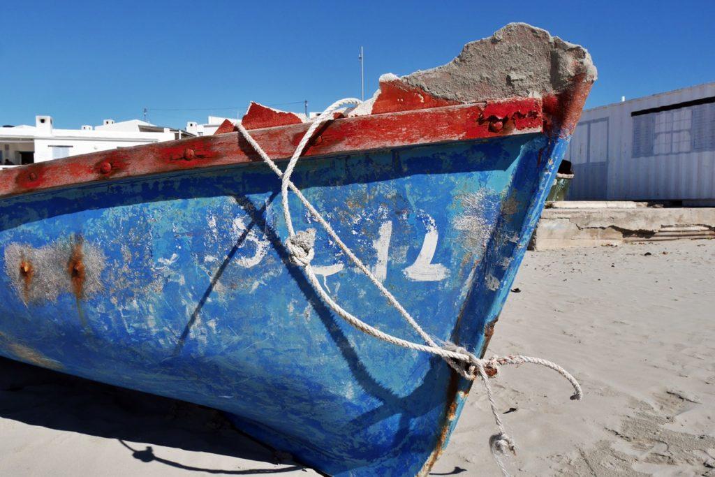 Fischerboot im Küstenort Paternoster in Südafrika