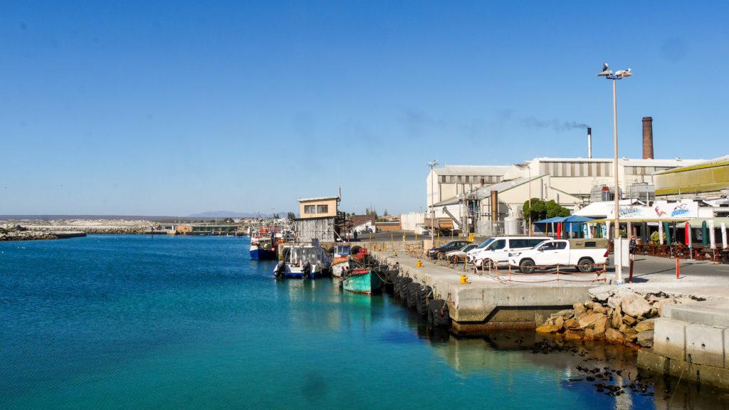 Blick auf den Hafen von Lamberts Bay