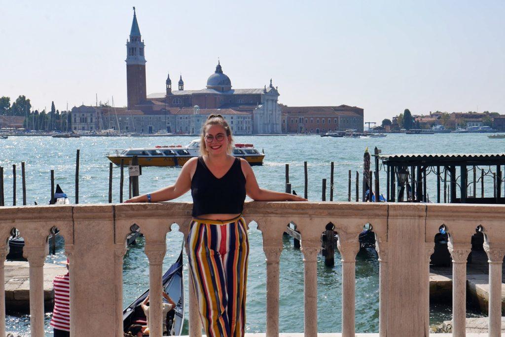 Blick auf die Lagune von Venedig.