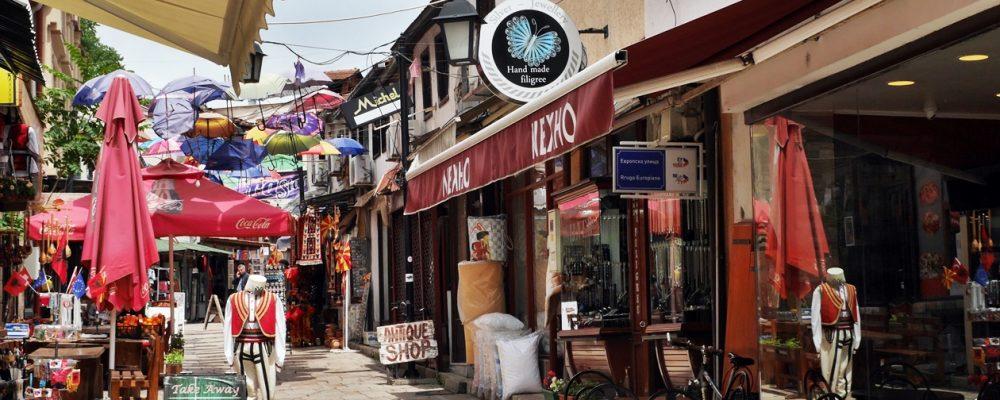 Gasse im alten Basar von Skopje
