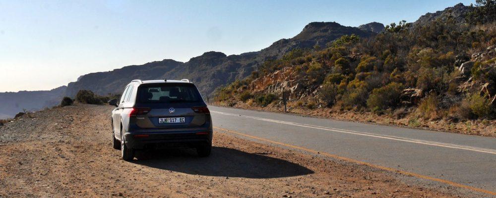 Auto am Straßenrand in den Zederbergen